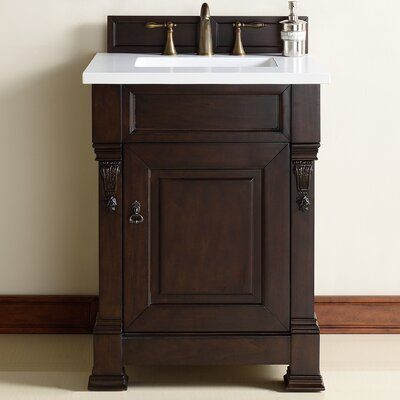 Brookfield 26 Single Burnished Mahogany Bathroom Vanity Set Top Thickness: 4cm