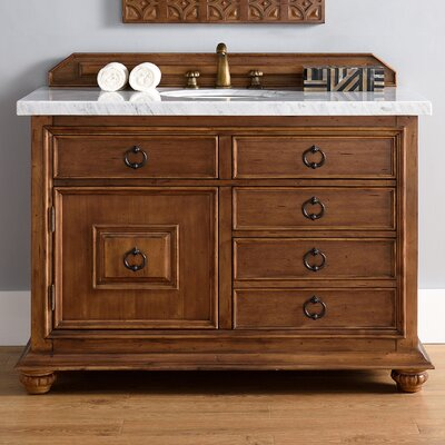 Frye 48 Single Cinnamon Wood Base Bathroom Vanity Set