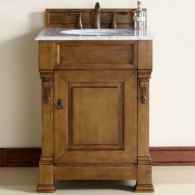 Brookfield 26 Single Country Oak Bathroom Vanity Set Top Thickness: 4cm