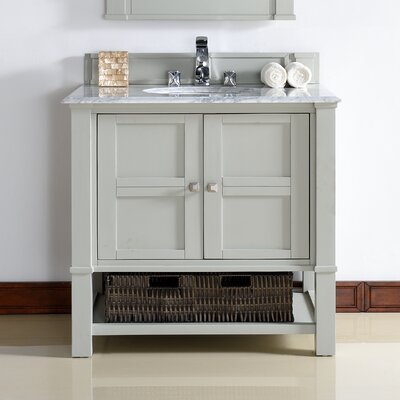 Westminster Traditional 36 Single Dove Gray Wood Base Bathroom Vanity Set