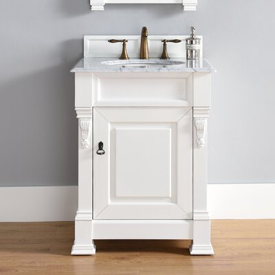 Brookfield 26 Single Cottage White Bathroom Vanity Set Top Thickness: 4cm