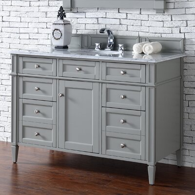 Brittany 48 Single Urban Gray Bathroom Vanity Set Top Thickness: 4cm