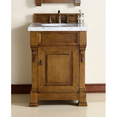 "Brookfield 26"" Single Country Oak Bathroom Vanity Set 147-114-V26-COK-2BLK"