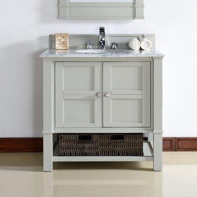 Westminster 36 Single Dove Gray Wood Base Bathroom Vanity Set