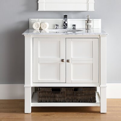 Westminster 36 Single Cottage White Bathroom Vanity Set
