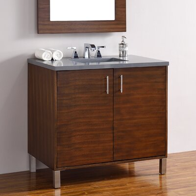 Cordie 36 Single American Walnut Wood Base Bathroom Vanity Set