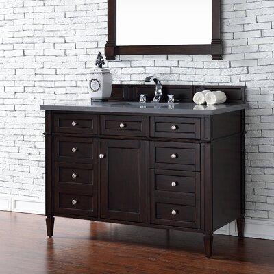 Deleon 48 Single Burnished Mahogany Wood Base Bathroom Vanity Set