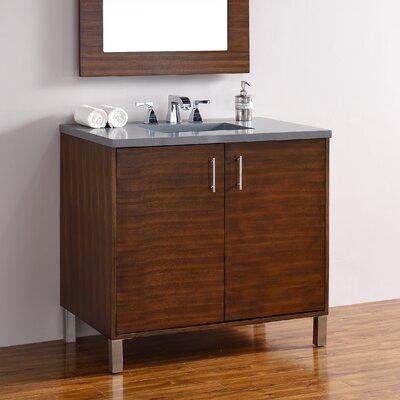 Metropolitan 36 Single American Walnut Bathroom Vanity Set