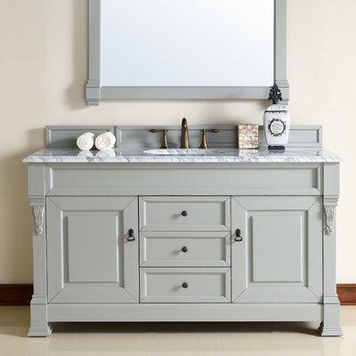 Brookfield 60 Single Urban Gray Bathroom Vanity Set