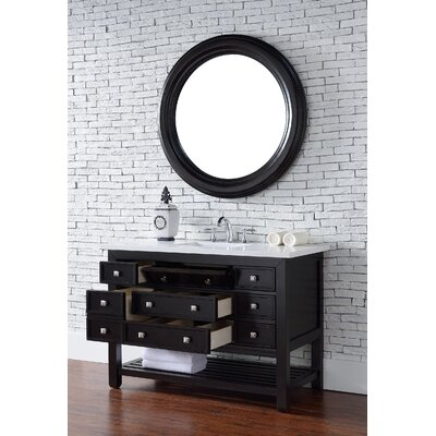 Kramer 46 Single Cerused Espresso Oak Bathroom Vanity Set