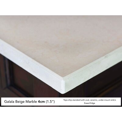 Malibu 60 Single Honey Alder Bathroom Vanity Set Top Finish: Galala Beige Marble Top