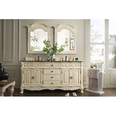Vendome 72 Double White Bathroom Vanity Set