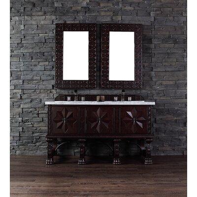 Balmoral 60 Double Antique Walnut Bathroom Vanity Set Top Finish: Santa Cecilia Granite Top