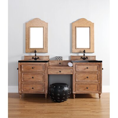 Berlin 26 Single Driftwood Patina Bathroom Vanity Top Finish: Absolute Black Rustic Granite Top