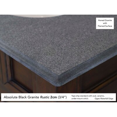 Deleon 60 Double Urban Gray Granite Top Bathroom Vanity Set Top Thickness: 2cm