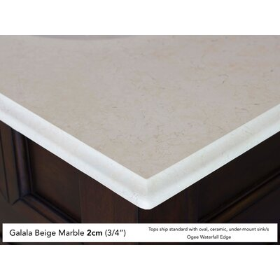 Belhaven 60 Double Driftwood Bathroom Vanity Set Top Finish: Galala Beige Marble Top