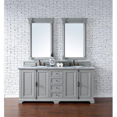 Providence 72 Double Urban Gray Bathroom Vanity Set Top Thickness: 4cm
