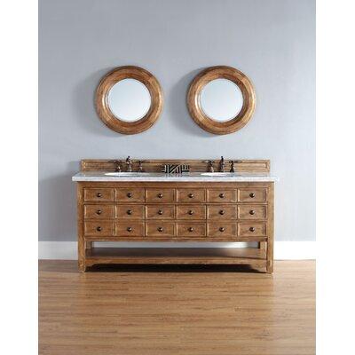 Montebello Traditional 72 Double Honey Alder Bathroom Vanity Set