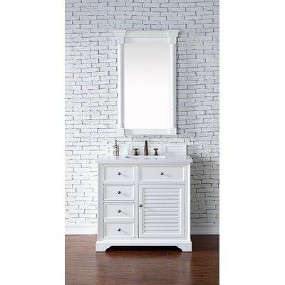 Belfield 36 Single Rectangular Sink Cottage White Bathroom Vanity Set Base Finish: Cottage White