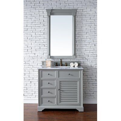 Belfield 36 Single Rectangular Sink Cottage White Bathroom Vanity Set Base Finish: Urban Gray