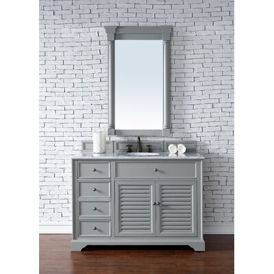 Savannah 48 Single Urban Gray Bathroom Vanity Set Top Thickness: 2cm