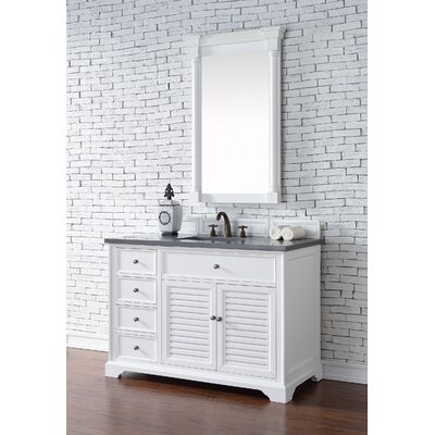 Belfield 48 Single Cottage White Bathroom Vanity Set Top Thickness: 2cm