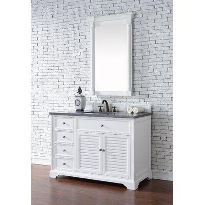 Belfield 48 Single Cottage White Bathroom Vanity Set Top Thickness: 4cm
