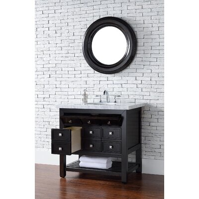 Kramer 34 Single Cerused Espresso Oak Bathroom Vanity Set