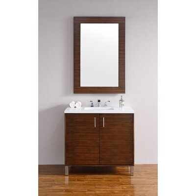 Cordie 36 Single American Walnut Bathroom Vanity Set Base Finish: American Walnut