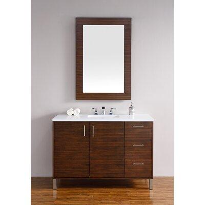 Cordie 48 Single American Walnut Bathroom Vanity Set Base Finish: American Walnut