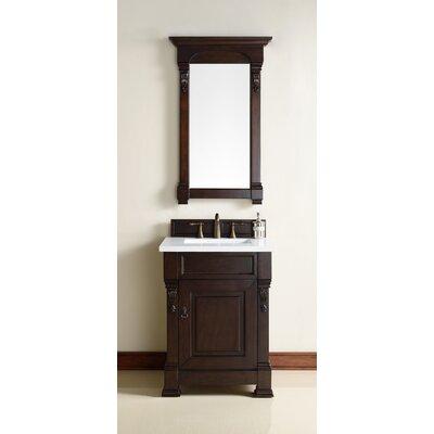 Bedrock 26 Single Antique Black Bathroom Vanity Set Base Finish: Burnished Mahogany
