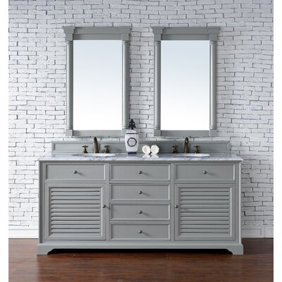 Savannah 72 Double Urban Gray Bathroom Vanity Set Top Thickness: 2cm