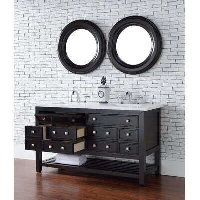 Kramer 58 Double Cerused Espresso Oak Bathroom Vanity Set