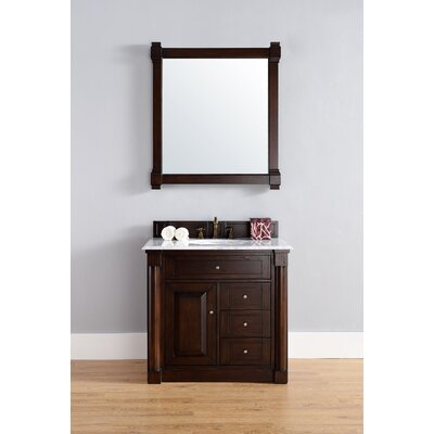Maurice 36 Double Burnished Mahogany Bathroom Vanity Set