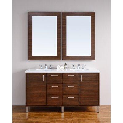 Metropolitan 60 Double Bathroom Vanity Base Base Finish: American Walnut
