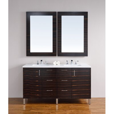 Metropolitan 60 Double Bathroom Vanity Base Base Finish: Macassar Ebony