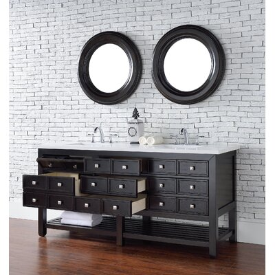 Kramer 70 Double Cerused Espresso Oak Bathroom Vanity Set