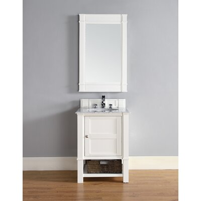 Westminster Traditional 26 Single Cottage White Wood Base Bathroom Vanity Set