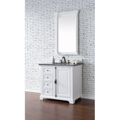 Belhaven 36 Single Ceramic Sink Cottage White Bathroom Vanity Set Top Thickness: 2cm