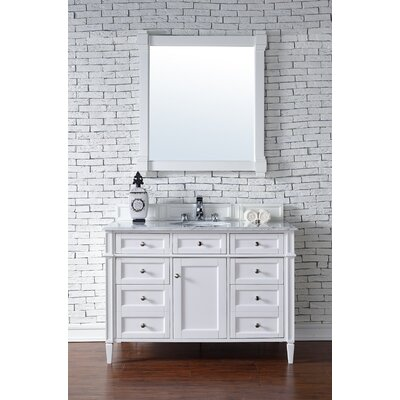 Deleon Traditional 48 Single Cottage White Bathroom Vanity Set Top Thickness: 2cm