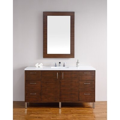 Cordie 60 Single American Walnut Bathroom Vanity Set Base Finish: American Walnut
