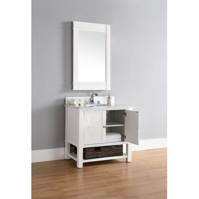 Westminster 36 Single Cottage White Wood Base Bathroom Vanity Set