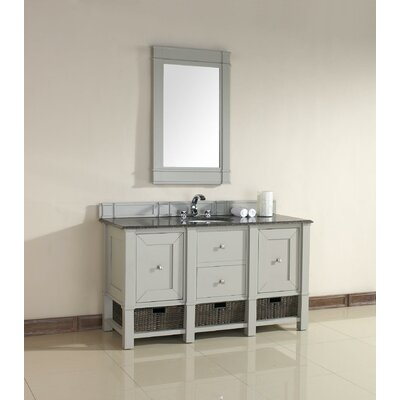 Westminster Traditional 60 Single Dove Gray Wood Base Bathroom Vanity Set