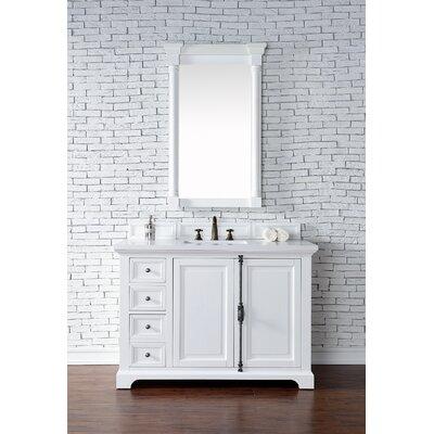 Belhaven 48 Single Cottage Bathroom Vanity Set Base Finish: Cottage White
