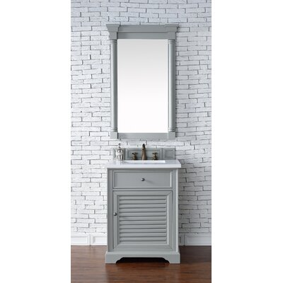 Belfield 26 Single Rectangular Sink Cottage White Bathroom Vanity Set Base Finish: Urban Gray