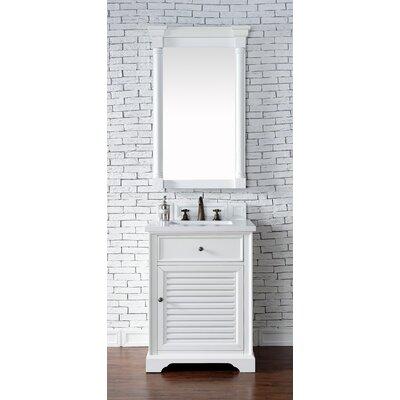 Belfield 26 Single Rectangular Sink Cottage White Bathroom Vanity Set Base Finish: Cottage White