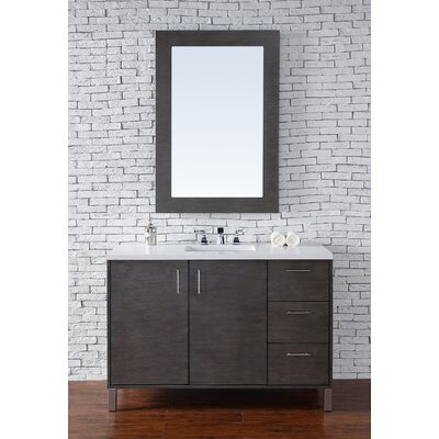 Cordie 48 Single American Walnut Bathroom Vanity Set Base Finish: Silver Oak