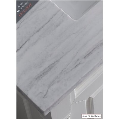 Belfield 72 Double Driftwood Bathroom Vanity Set Top Finish: Arctic Fall Solid Surface, Top Thickness: 3cm
