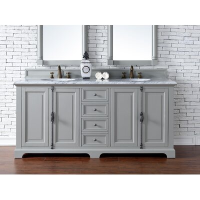 Providence 72 Double Urban Gray Bathroom Vanity Set Top Thickness: 2cm