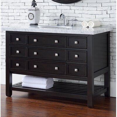 Kramer 48 Single Cerused Espresso Oak Wood Base Bathroom Vanity Set